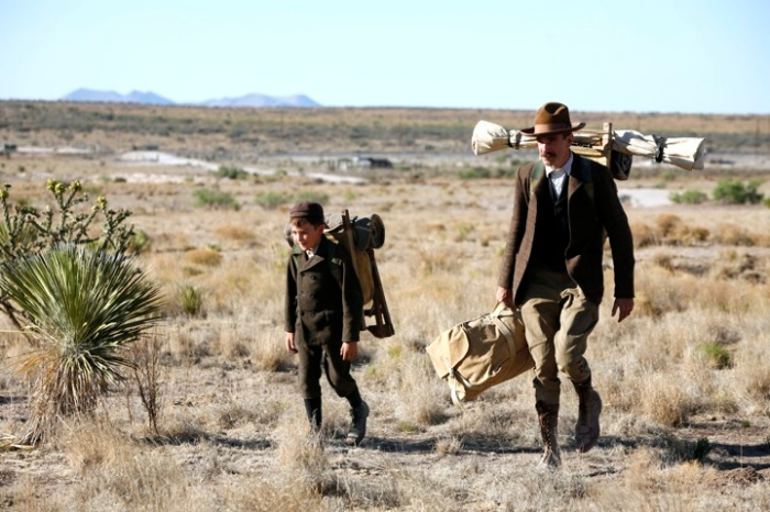 Daniel Plainview and H.W. on their way to the Sunday Ranch